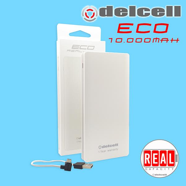 delcell eco slim power bank)